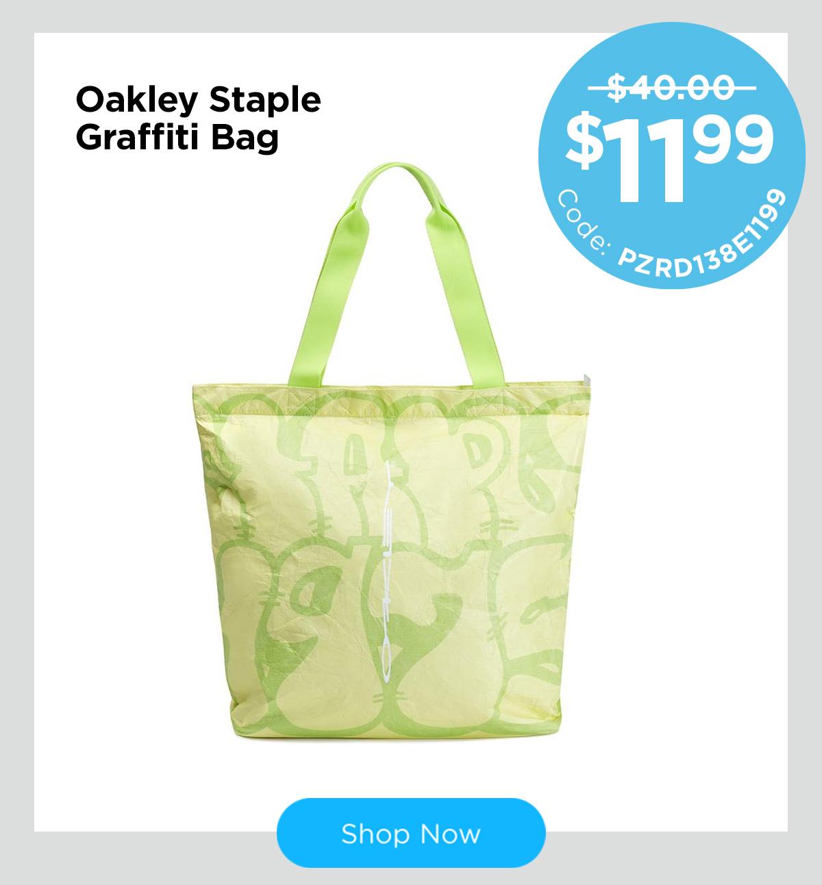 Oakley Staple Graffiti Bag Pale Lime Yellow One Size