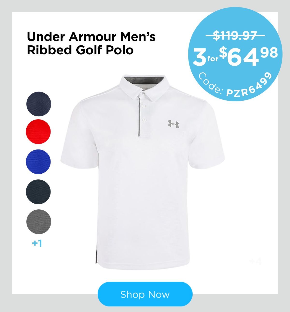 Under Armour Men's Ribbed Golf Polo