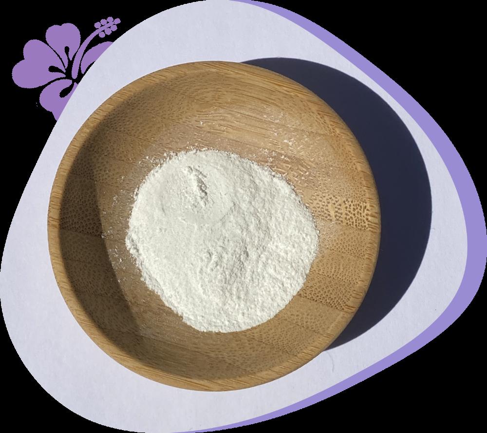MCHA powder in wood bowl