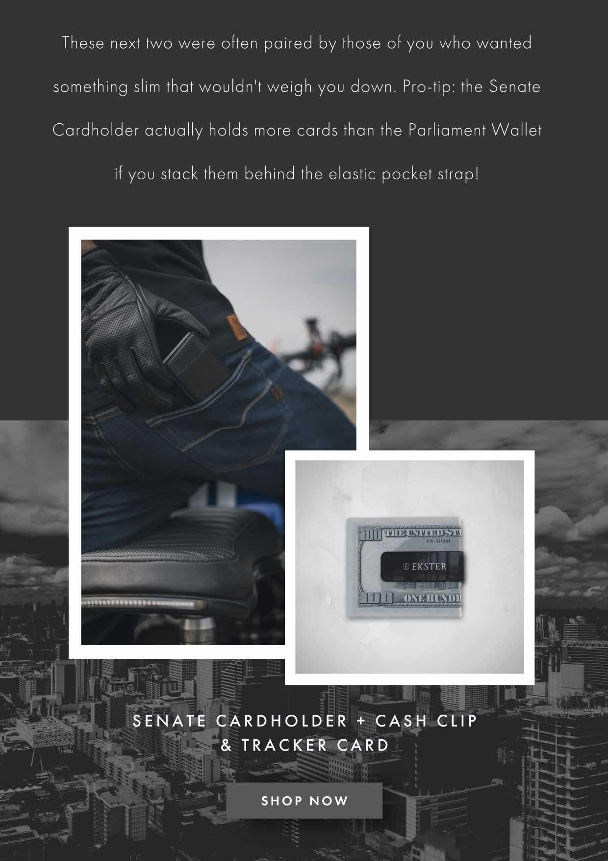 SENATE + TRACKER + CASH CLIP