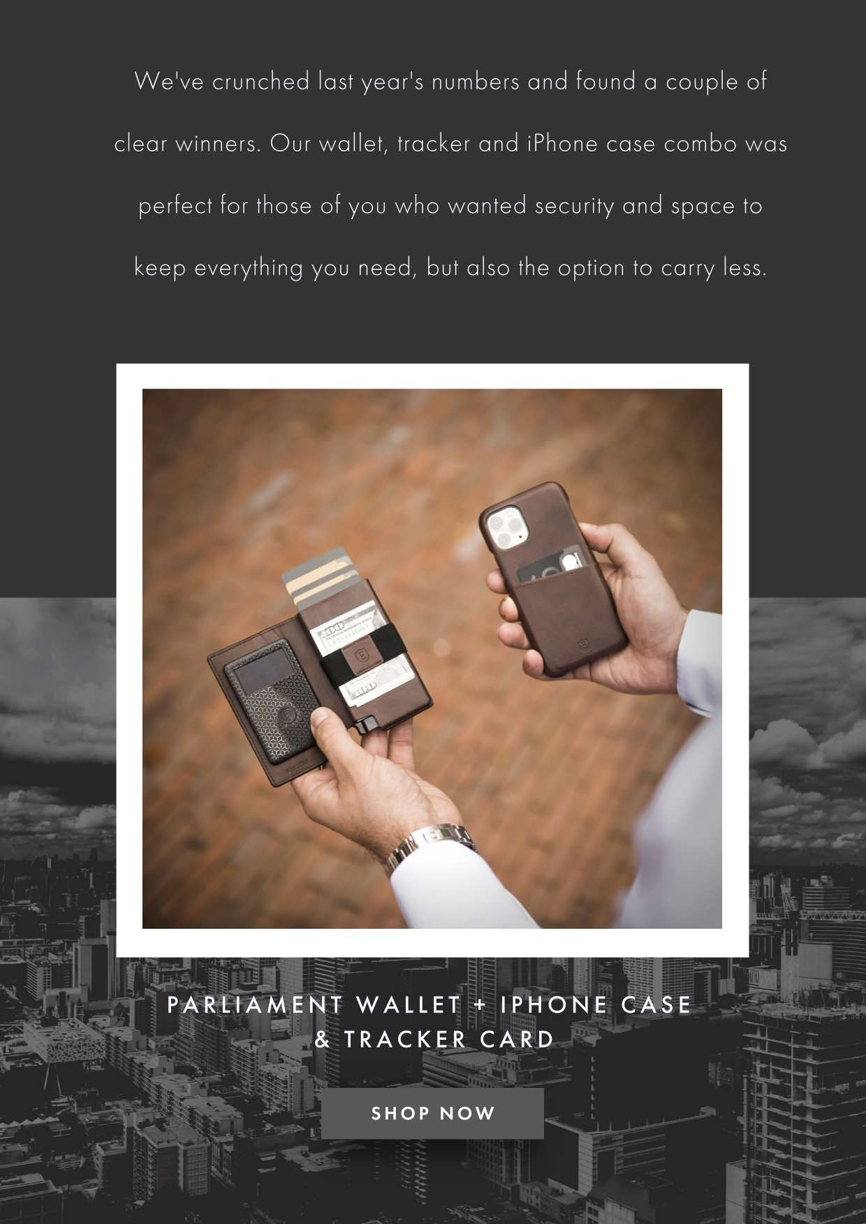 PARLIAMENT + TRACKER + IPHONE CASE
