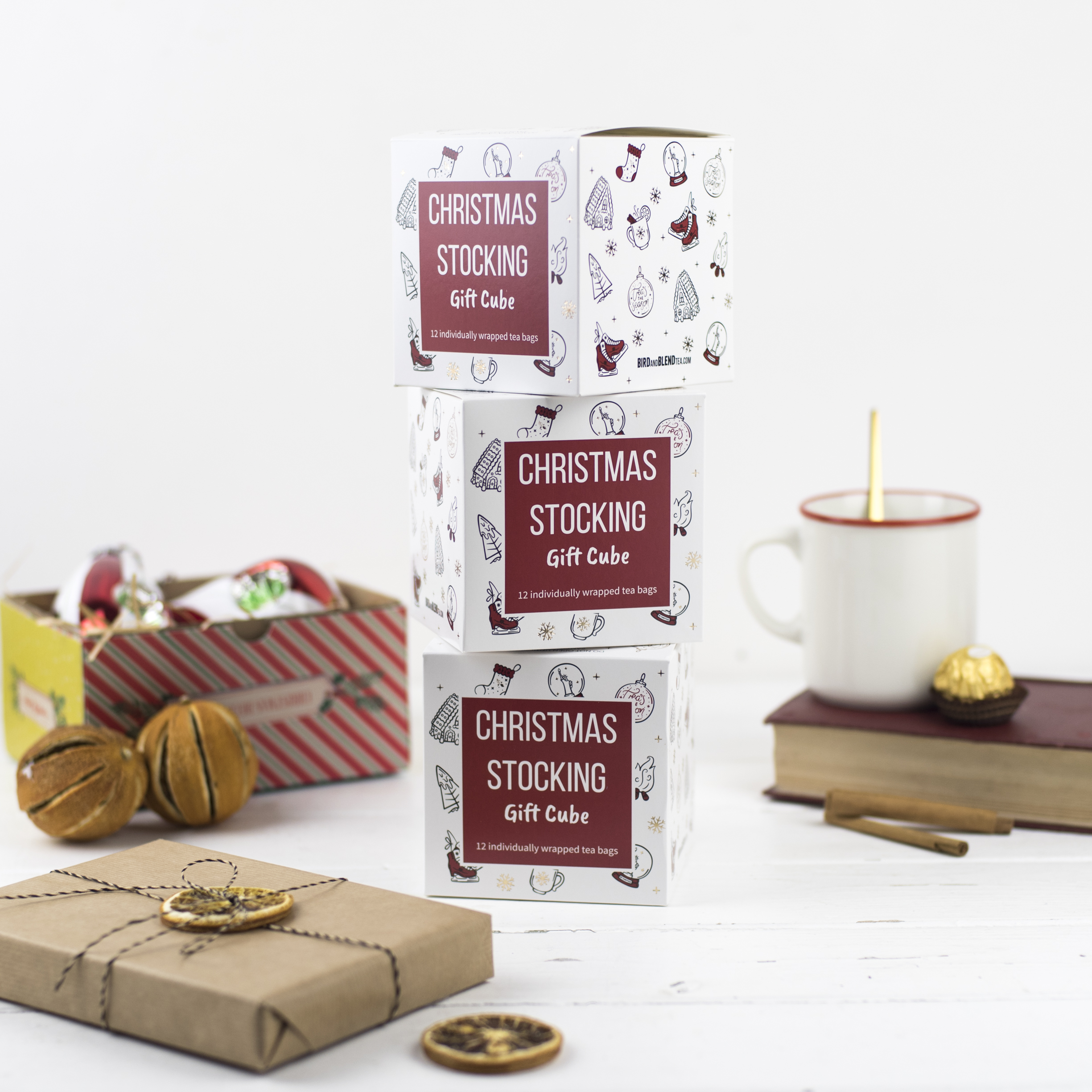 Christmas Tea Bag Gift Cube