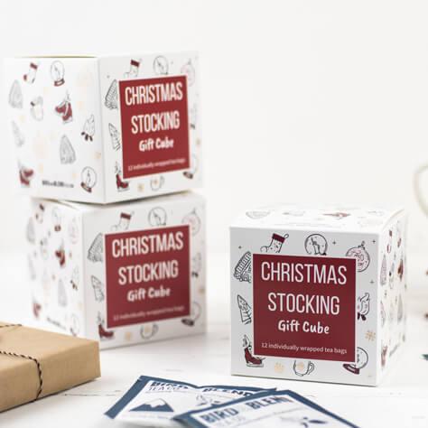 Christmas Tea Bag Gift Cube
