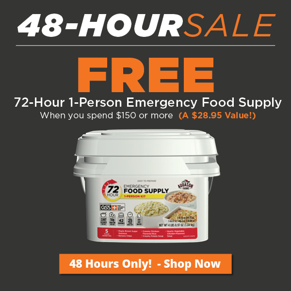 Free 72-Hour 1-Person Emergency Food Supply