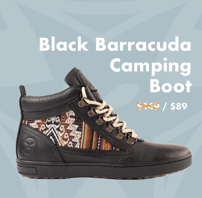Black Barracuda Camping Boot