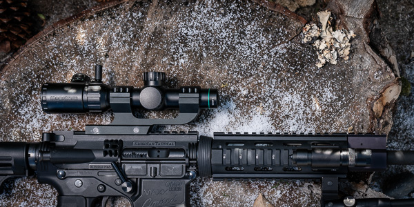 1-4x20 Tactical Scope with Offset Scope Mount