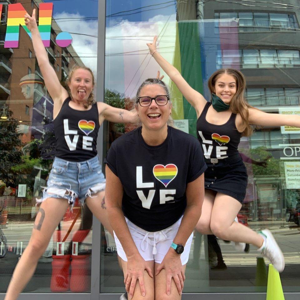 Syd, Maya and Leah jumping   BlackToe Running   Toronto Ontario