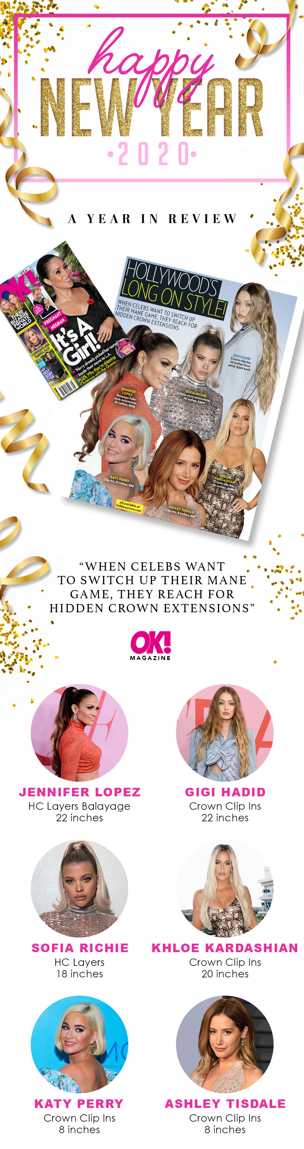 When the Celebs want to switch up their mane game, they reach for Hidden Crown extensions - OK Magazine