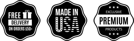 free delivery / made in usa / premium products