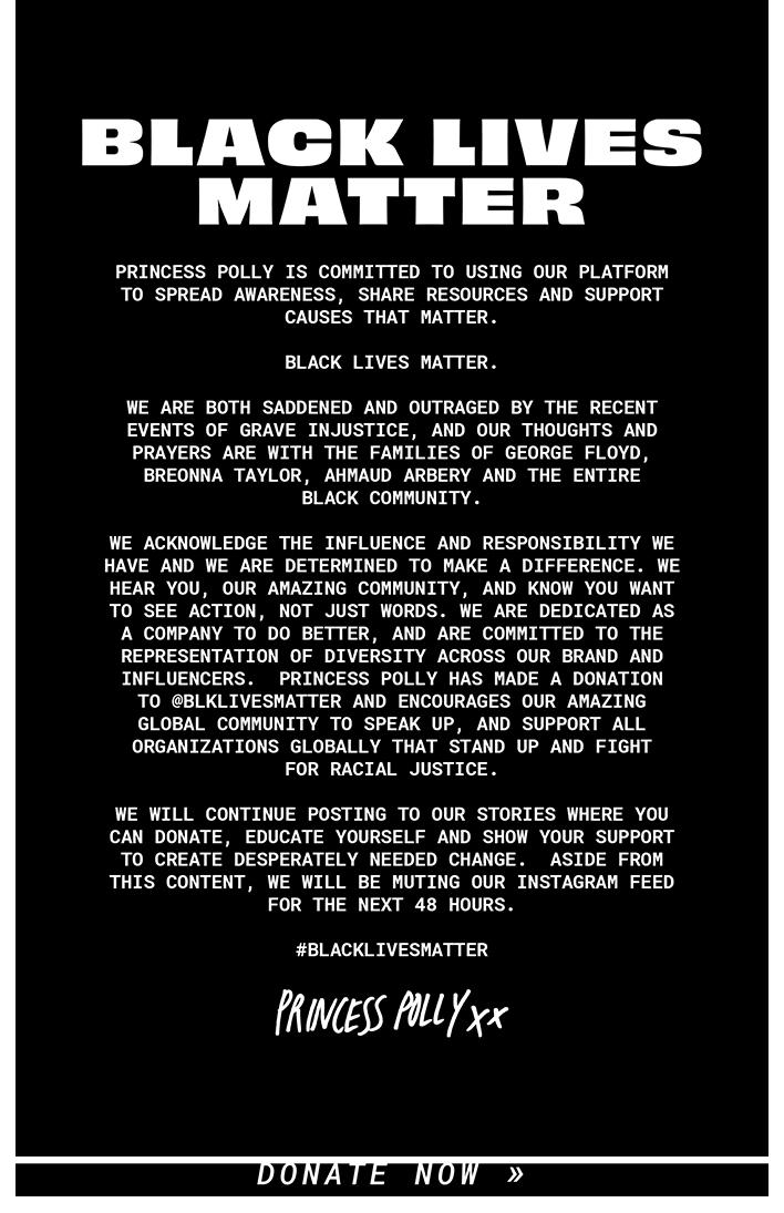 BLACK LIVES MATTER >> Donate Now