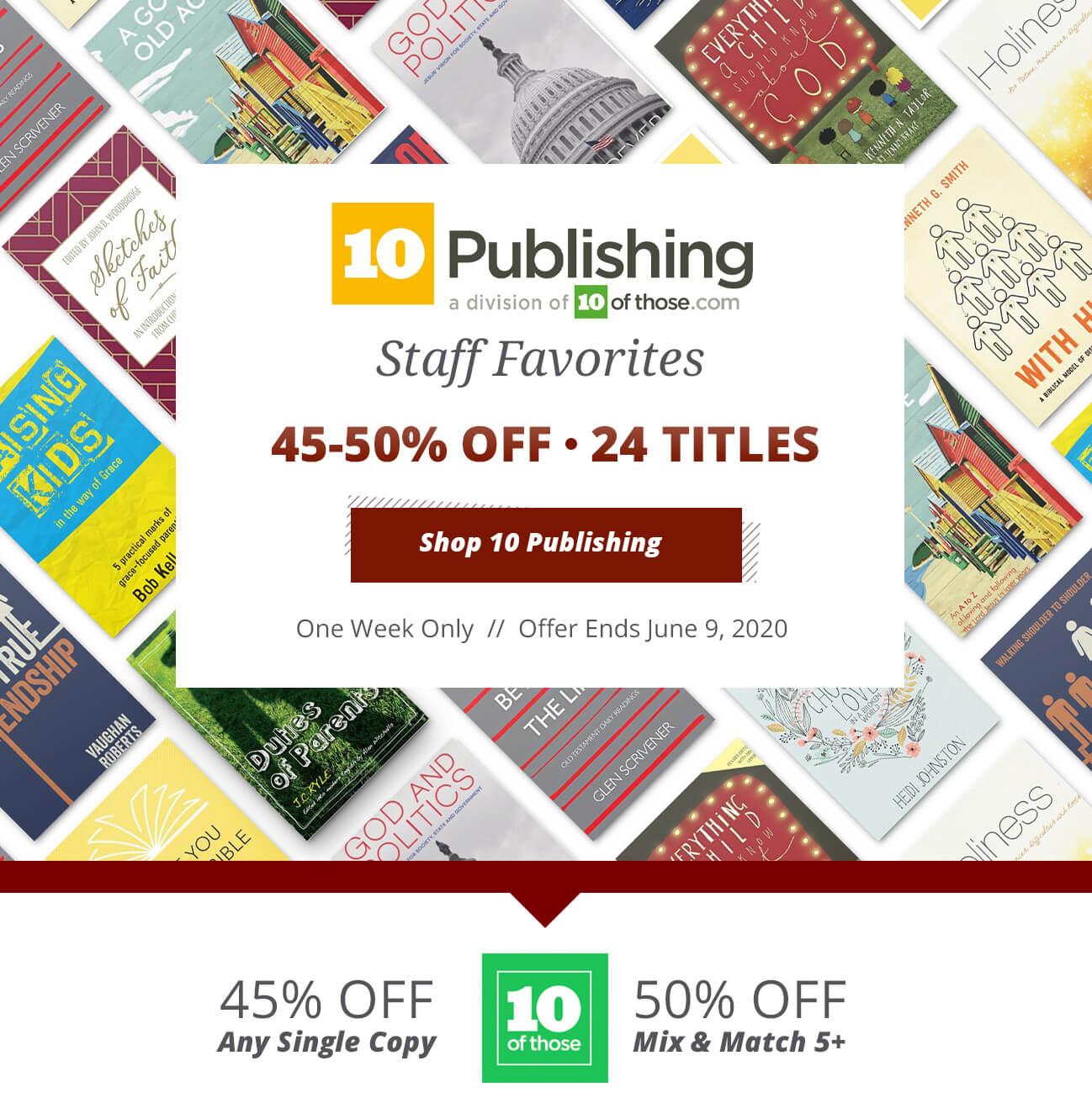 10 Publishing Staff Favorites