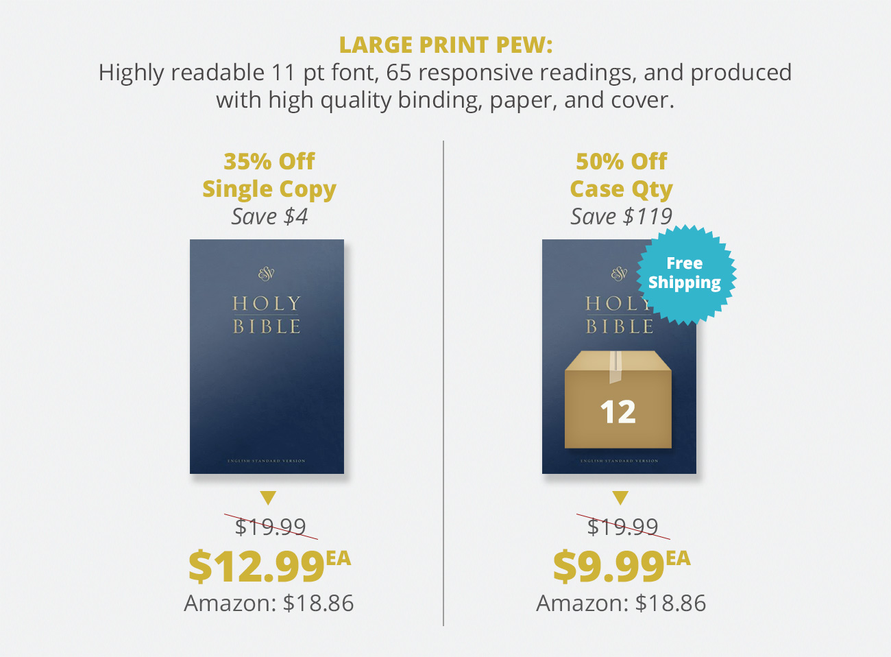 ESV Pew Bibles – Westminster Bookstore