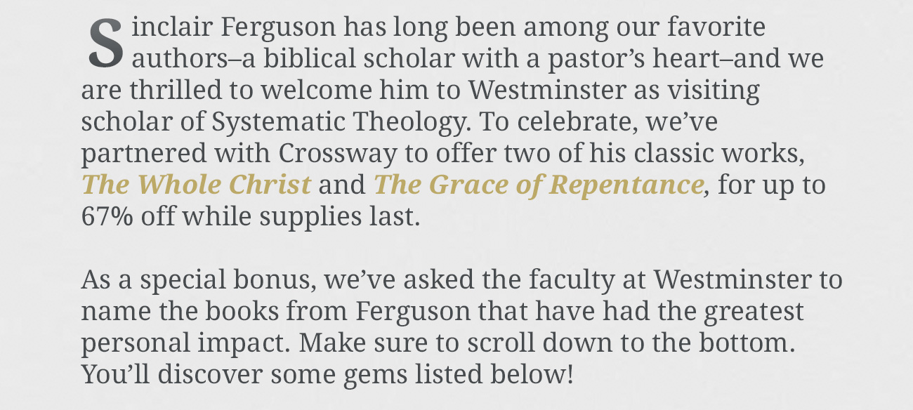 Welcoming Ferguson to Westminster