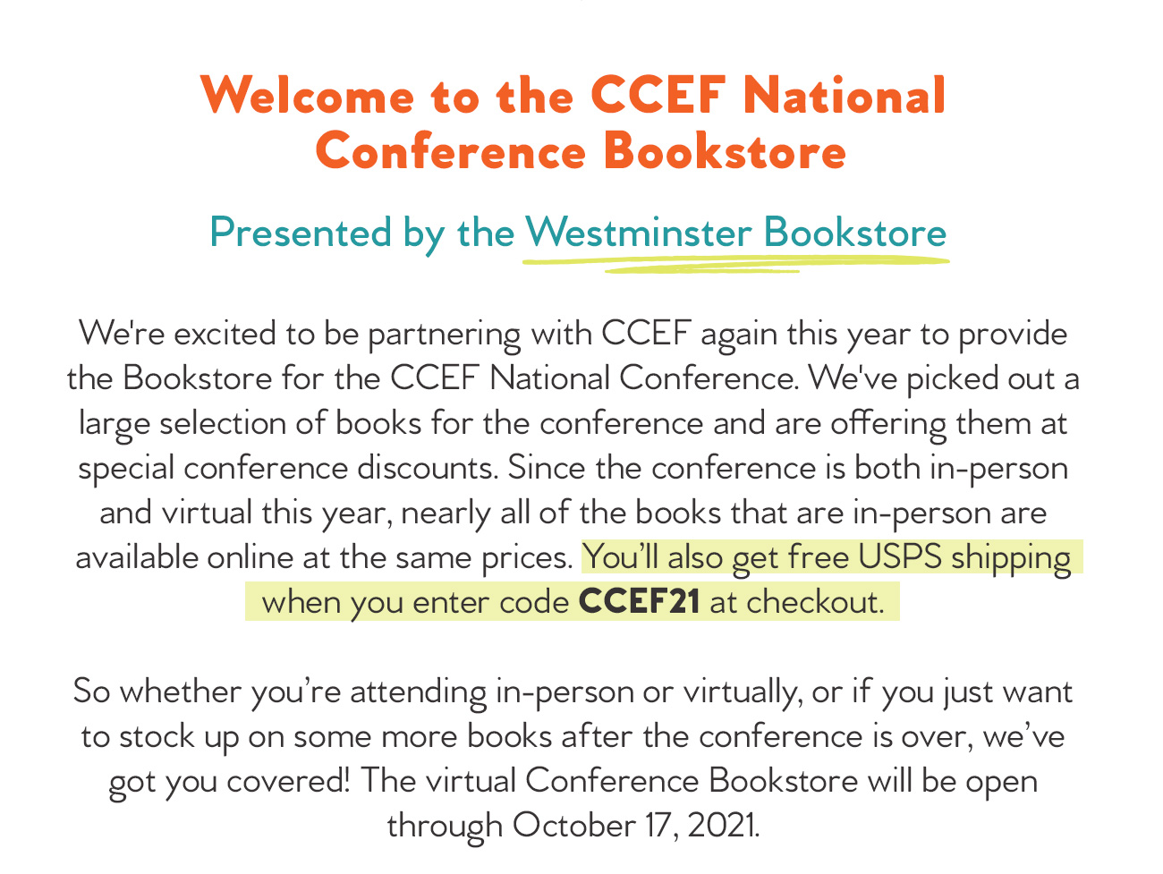 Welcome to Conference Bookstore