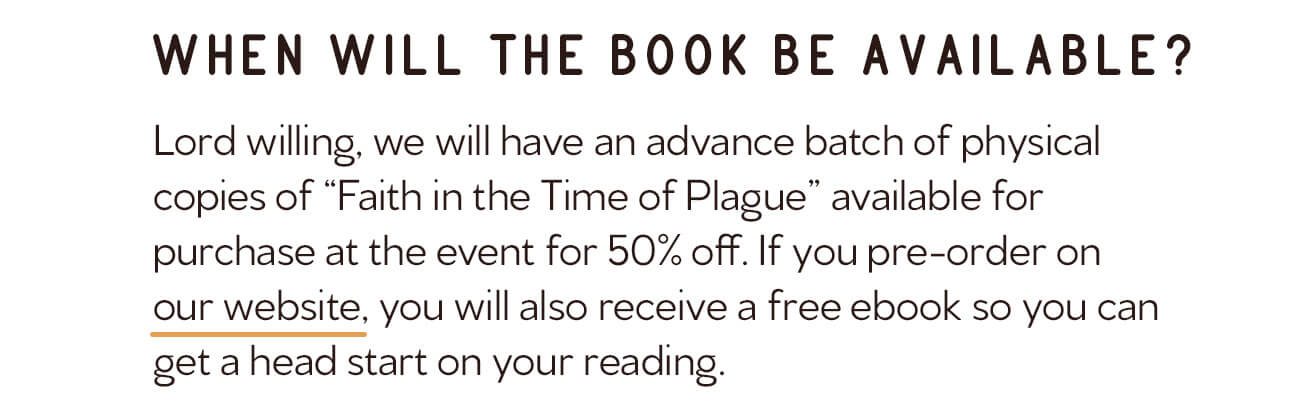 Faith in the Time of Plague Event