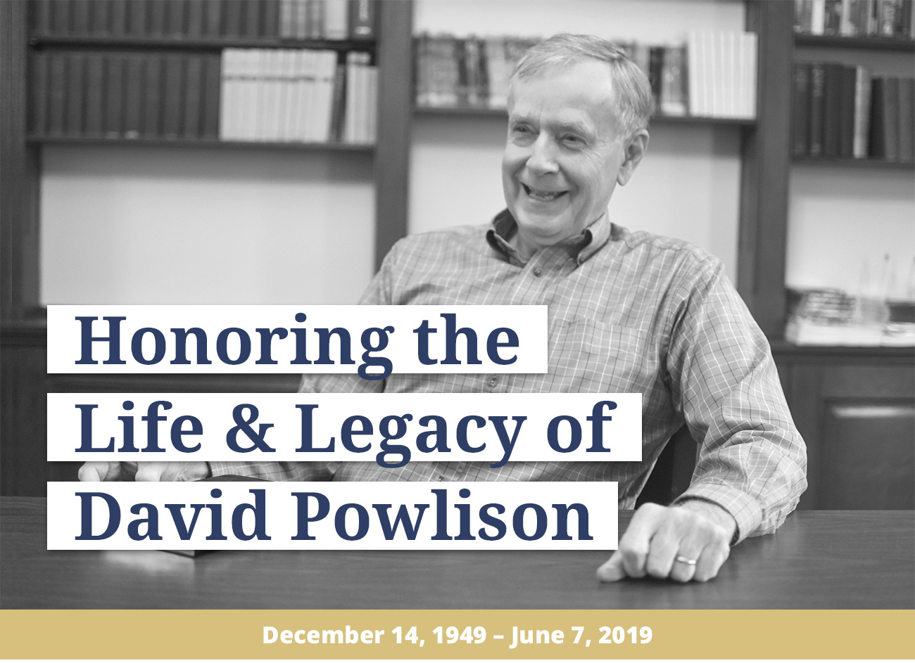 David Powlison's Final Book