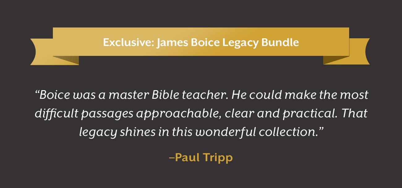 James Boice Legacy