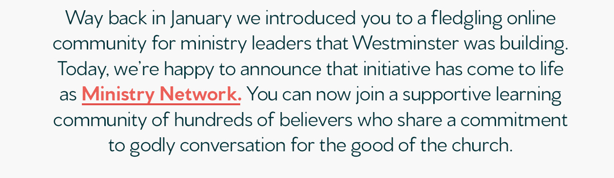 Welcome to Ministry Network