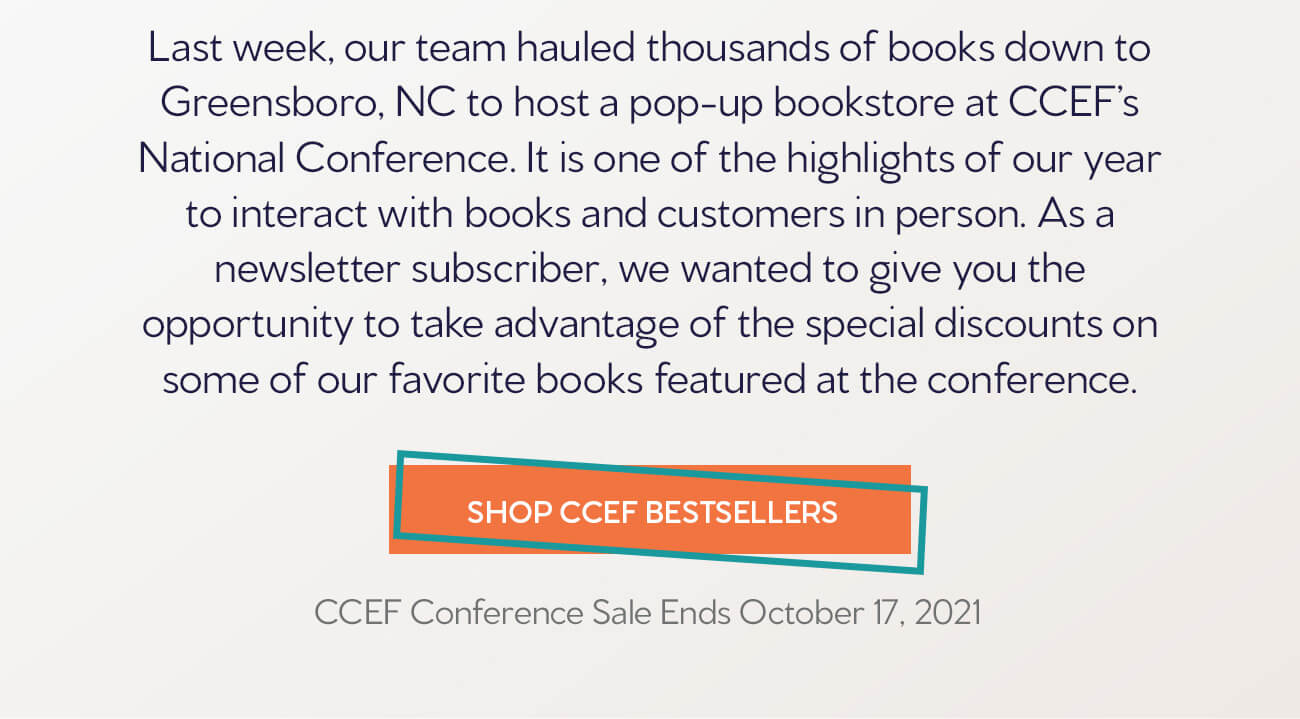 CCEF 2021 Conference Bestsellers