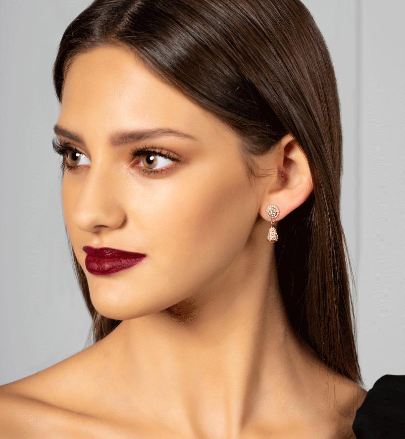 Sparkle Halo Drop Earrings