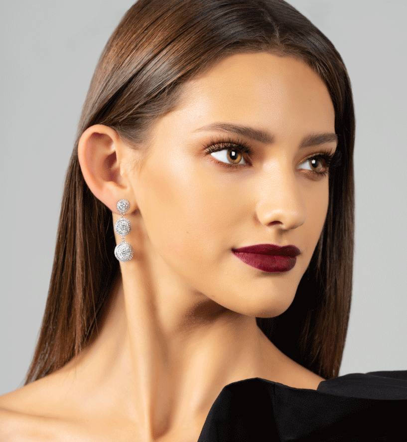 "Sparkle Ballâ""¢ï¸ Statement earrings"