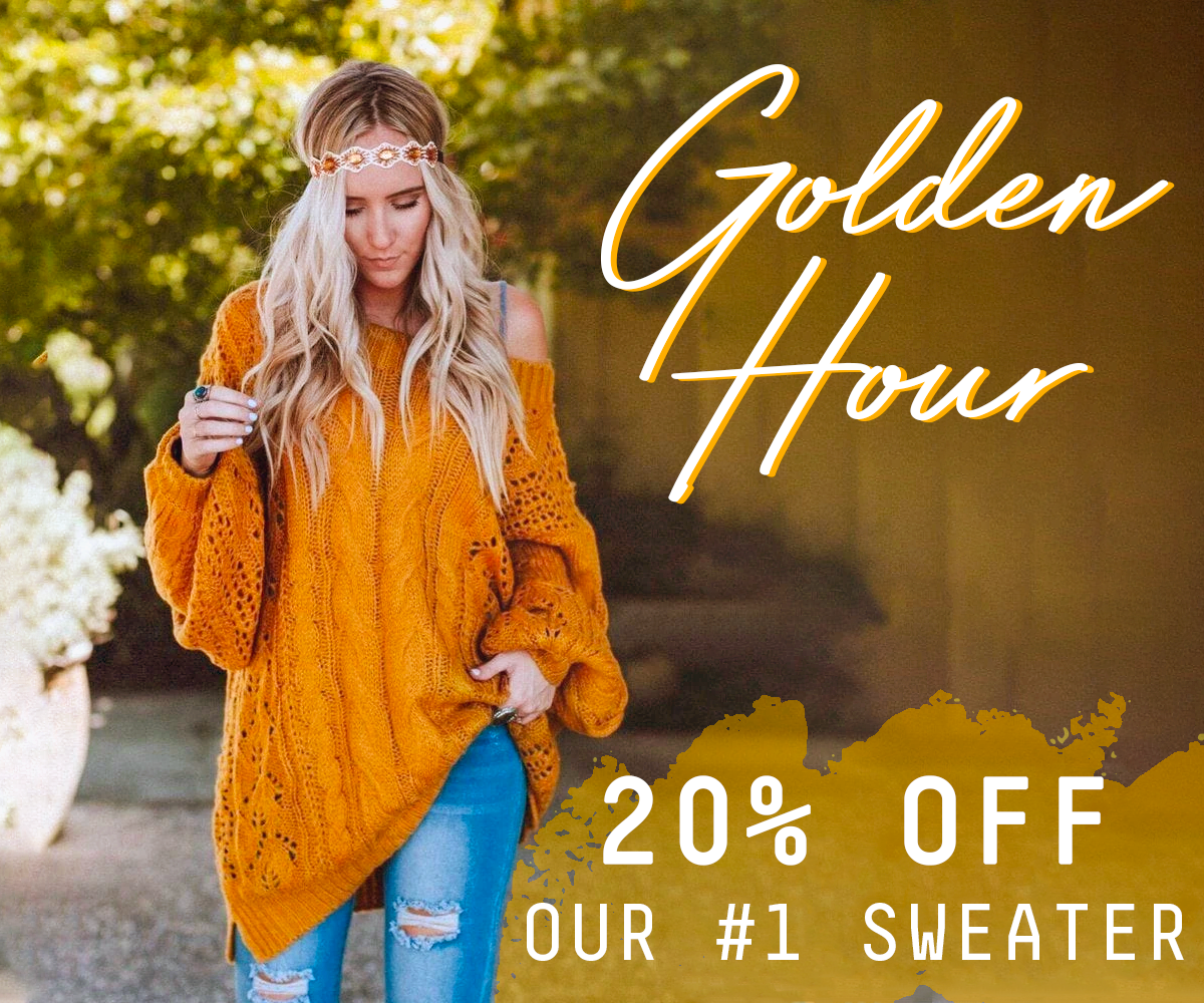 Golden Hour Sweater. Get $10 Off This #1 Sweater!