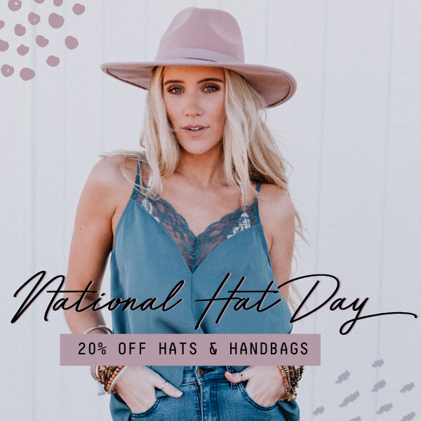 20% Off Hats and Handbags
