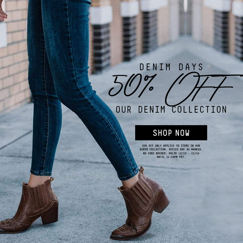 50% Off Our Denim Collection