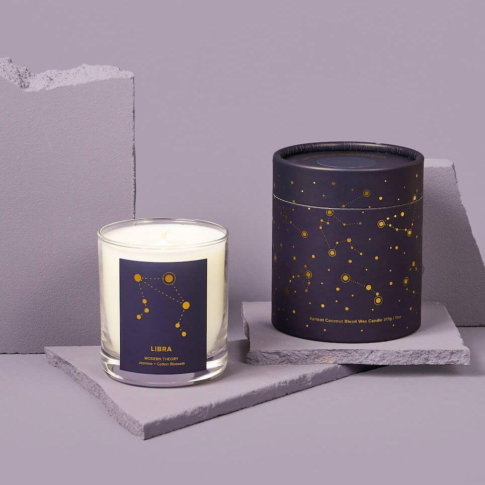 Libra Candle: JASMINE + COTTON BLOSSOM