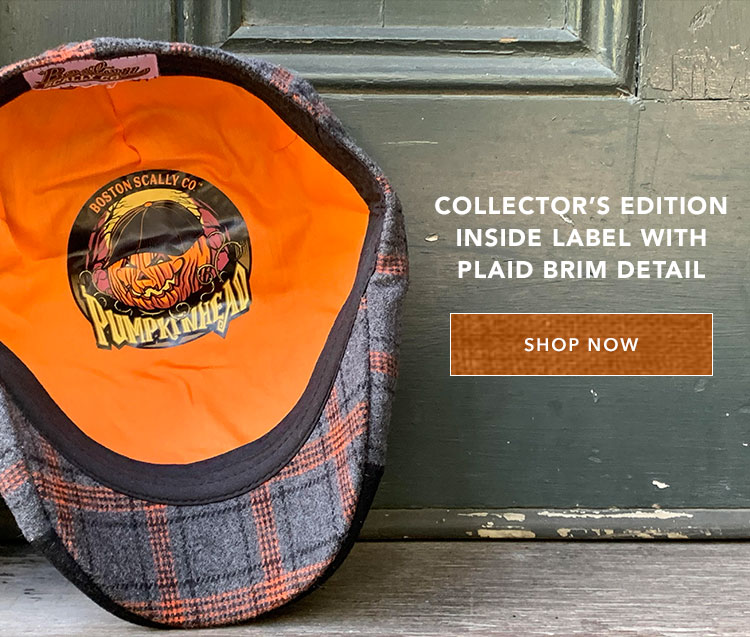 Collector's edition inside label with plaid brim detail.