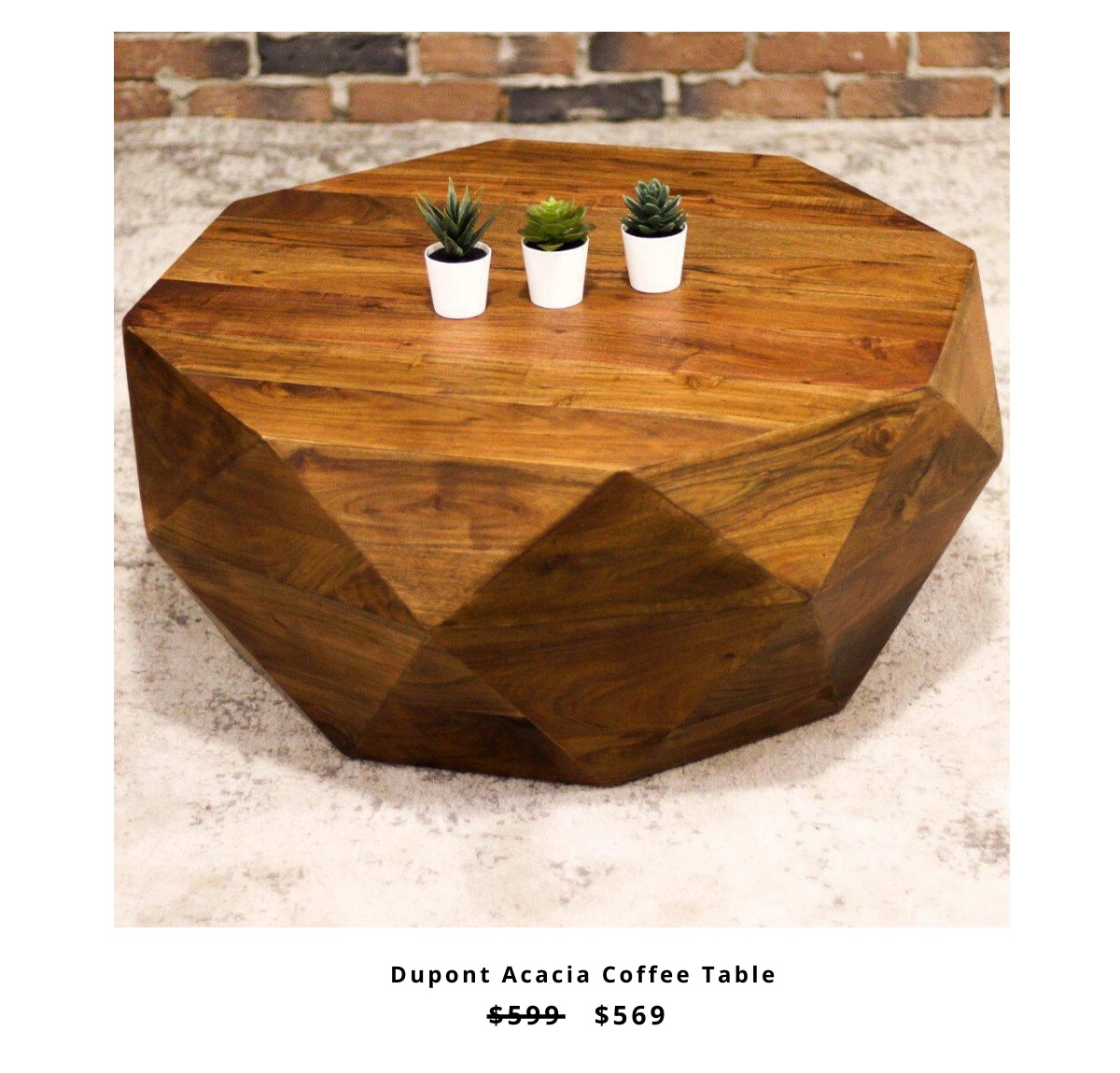 Dupont Acacia Coffee Table