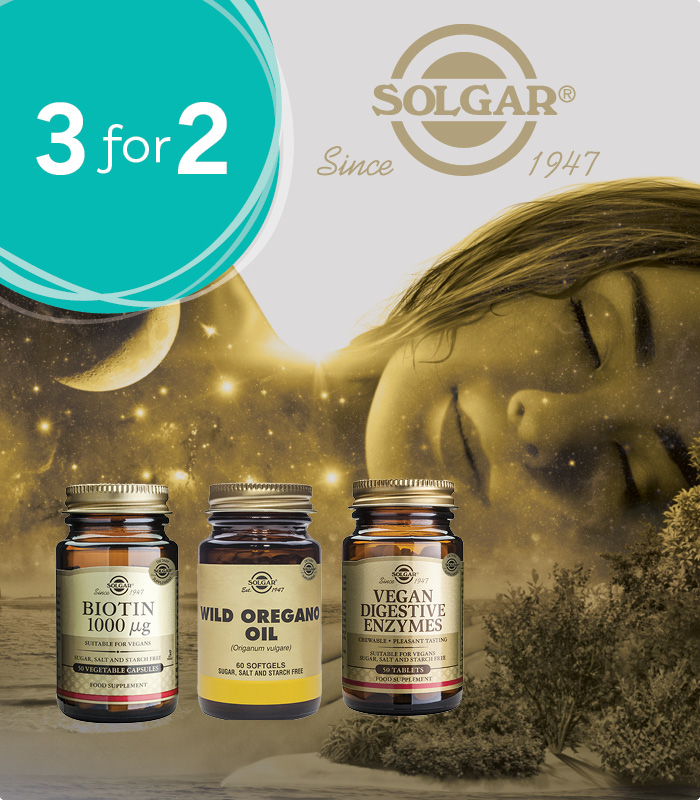 Solgar 3 for 2 - buy 3 products only pay for 2
