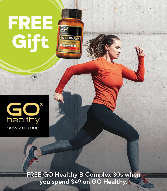 FREE GO B Complex when you spend $49 on GO Healthy