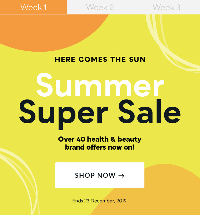 Summer Super Sale Starts now!