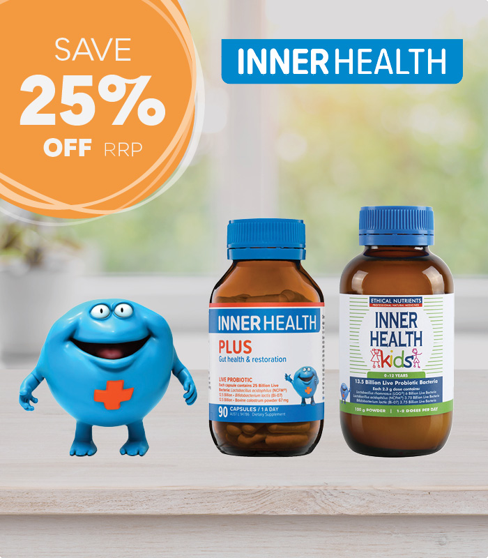 Save 25% off RRP across the Inner Health range