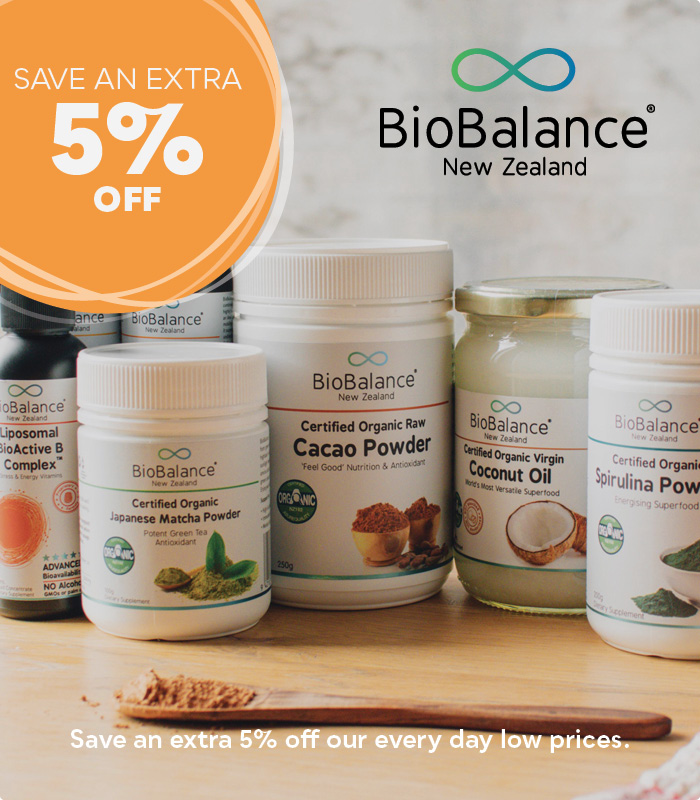 BioBalance - save an extra 5% off our everyday low prices