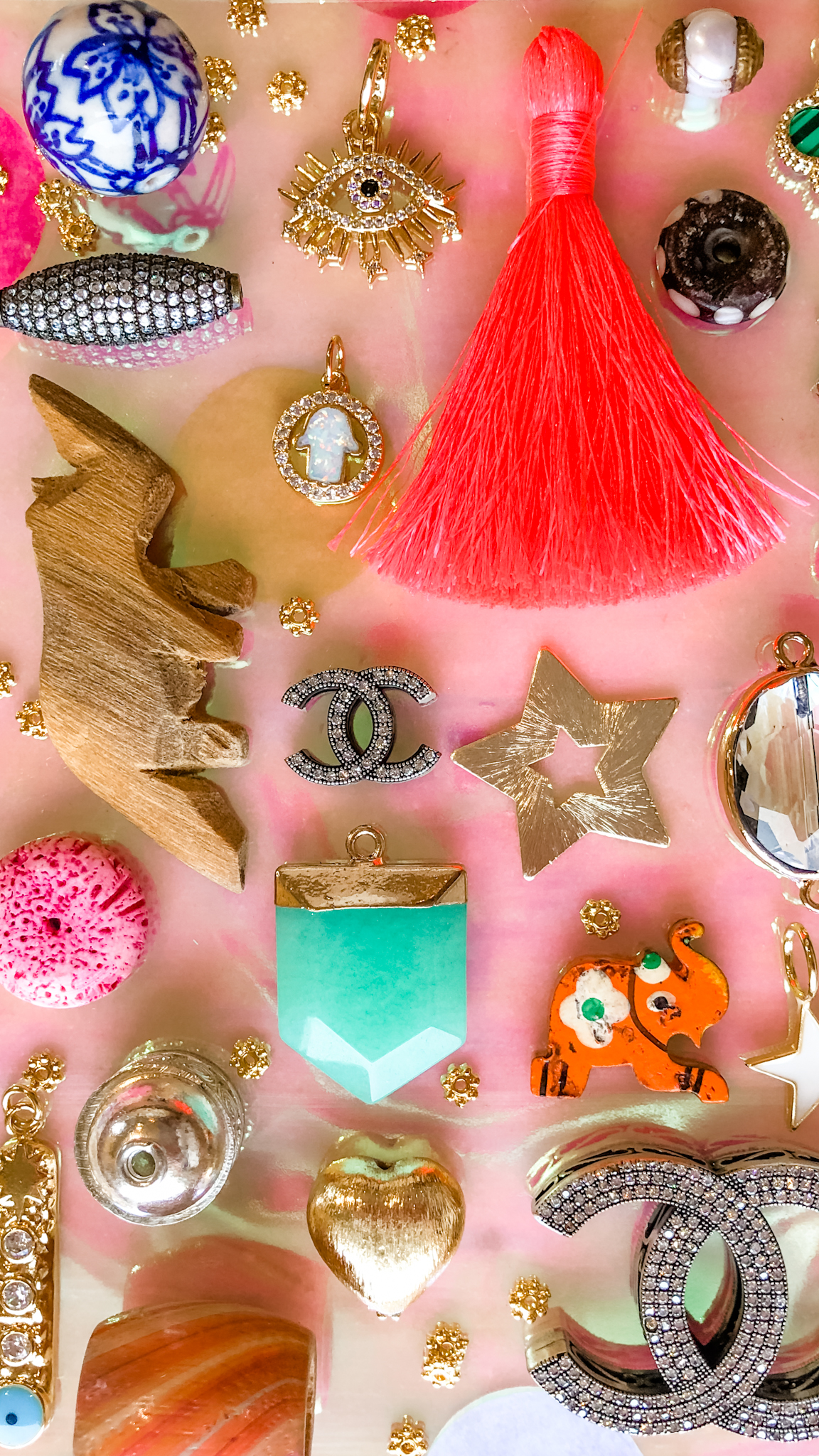 loose beads, charms, pendants