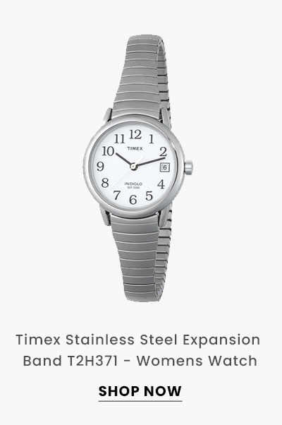 Timex Stainless Steel Expansion Band T2H371 - Womens Watch. Shop Now.