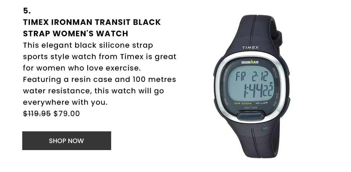 Timex Ironman Transit Black Strap Women's Watch. Shop Now.