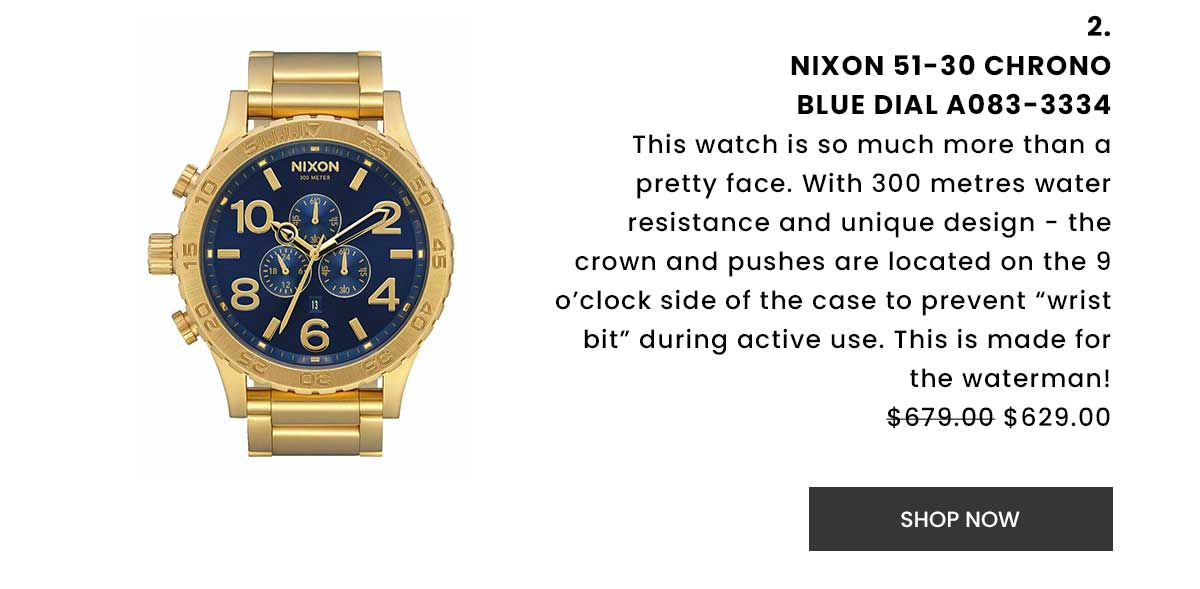Nixon 51-30 Chrono Blue Dial A083-3334. Shop Now.