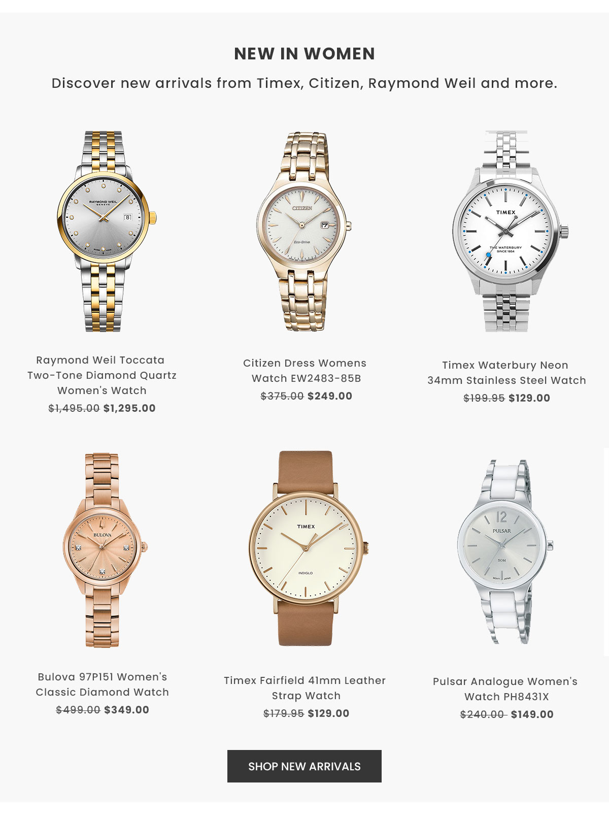 Shop New In Women's Watches
