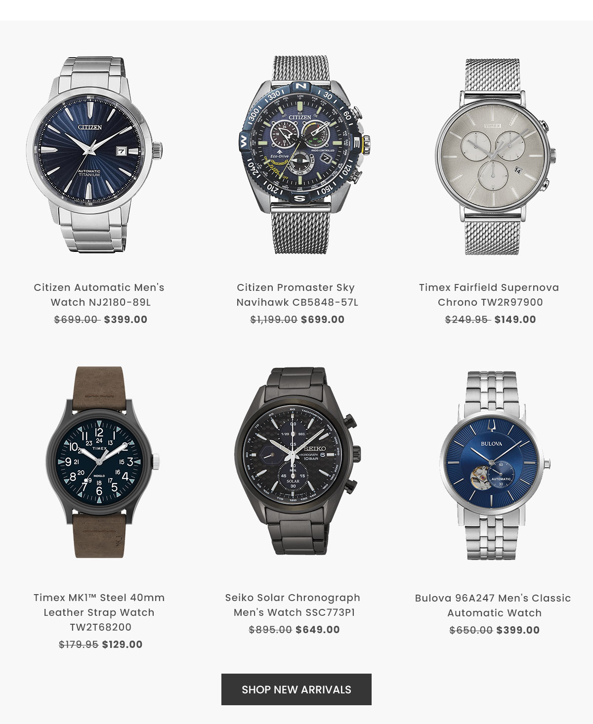 Shop New In Men's Watches
