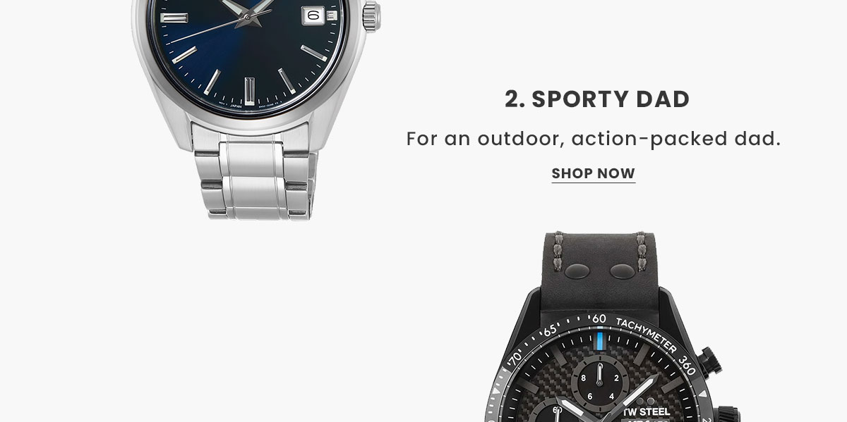 Sporty Watches. Shop Now.