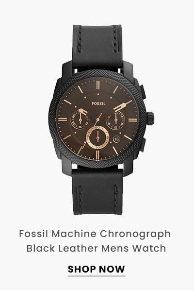 Fossil Machine Chronograph Black Leather Mens Watch. Shop Now.