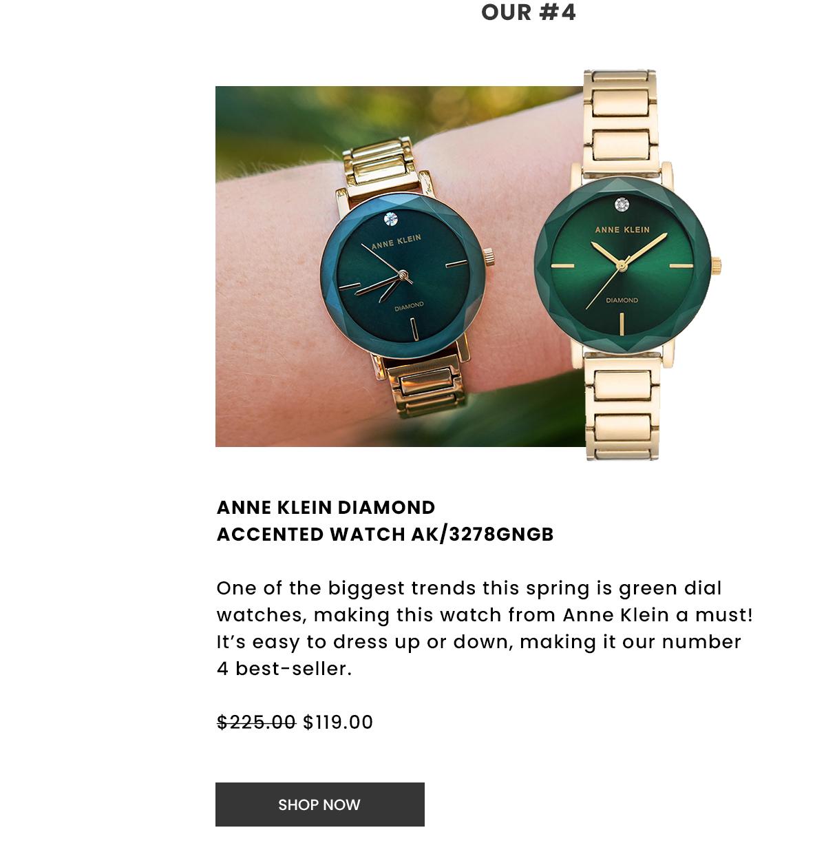 Anne Klein Diamond Accented Watch AK/3278GNGB. Shop Now.