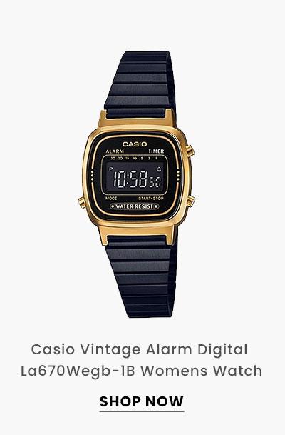 Casio Vintage Alarm Digital La670Wegb-1B Womens Watch. Shop Now.