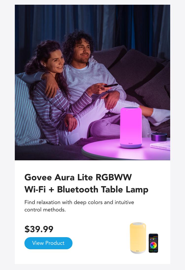 Govee Aura Lite RGBWW Wi-Fi + Bluetooth Table Lamp