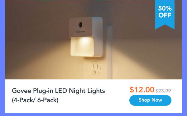 Govee Plug-in LED Night Lights (4-Pack/ 6-Pack)