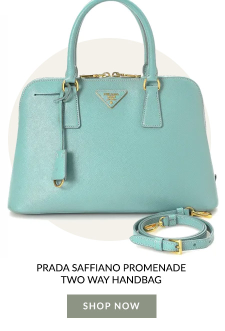 Prada Saffiano Promenade Two Way Handbag