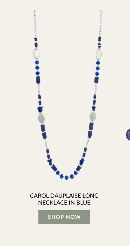 Carol Dauplaise Long Necklace In Blue